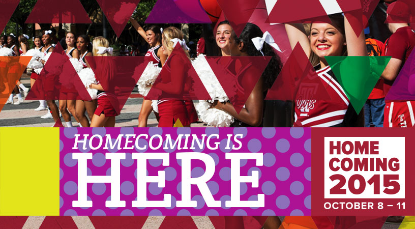 TEMPLE HOMECOMING 2015;This Makes Me Happy, Visual Goods